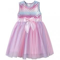 VIKITA Girls Casual Dress Toddler Girl Summer Dresses Short Sleeve Party Tutu Dresses for Little Girls 2-8 Years