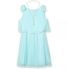 Amy Byer Girls' Sleeveless Popover with Pleated Skirt