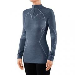 FALKE Womens Zip Up Neck Extra Warm Shirt - Captin Navy