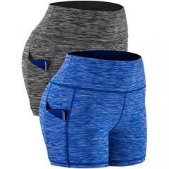 Cadmus Women's High Waist Running Workout Short Out Pockets