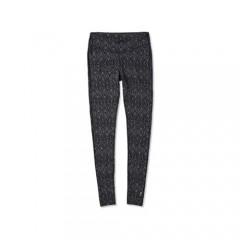Smartwool Women's Baselayer Bottom - Merino 250 Wool Pattern Performance Pants Black Medallion X-Large